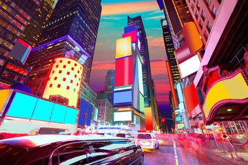 Wall Mural - Times Square Manhattan New York deleted ads