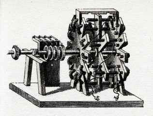 First real rotating electric motor (Moritz Jacobi, 1034)
