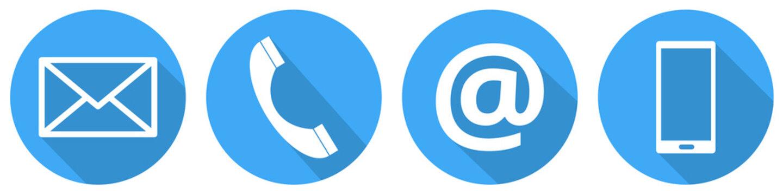 Blaue Kontakt Icons