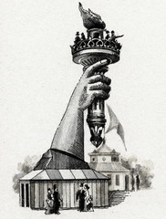 Right arm of the Statue of Liberty, 1876 Centennial Exposition