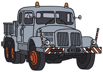 Old towing truck, vector illustration
