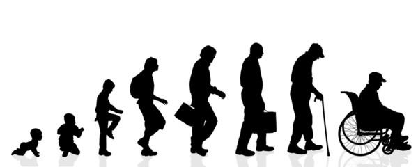 Vector silhouette generation men.