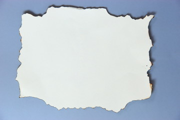 Burn paper on gray background