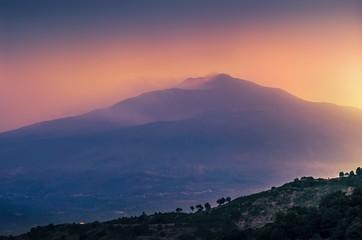 Etna, before the night,Sicily ,Italy. Fototapete