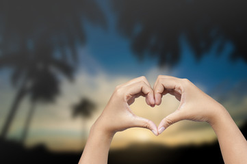 hand in heart