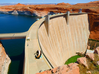 Aluminium Prints Dam Glen Canyon Dam