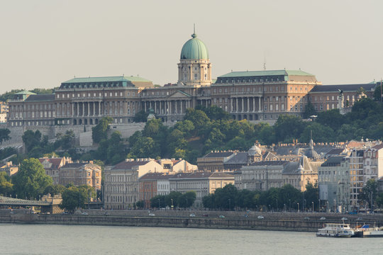 Buda castle district in Budapest