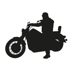 Vector silhouette of chopper motorbike
