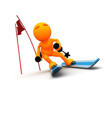 3d Guy: Winter Slalom Skiier
