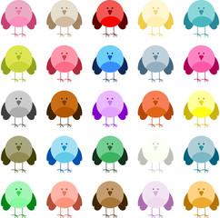 Multiple Colored Cute Bird