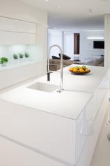 Kitchen island inside elegant house