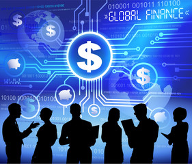 Vector of Busines And Global Finance