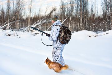 hunting in winter