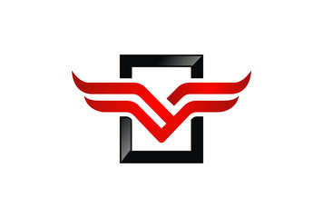 abstract wing logo