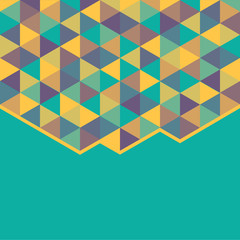 abstract background with color triangles - vector illustration