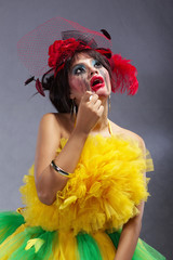 Female with crazy make-up
