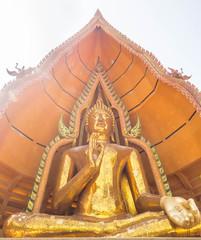 Big Golden Buddha Statue in Wat Tham Suea, Kanchanaburi, Thailan