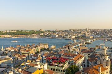 evening panorama of Istanbul