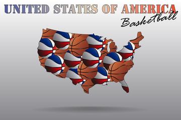 Map of USA Basketball