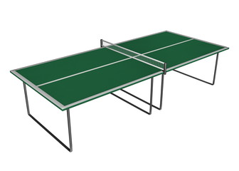 Tennis table - 3D render