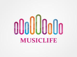 Vector music logo