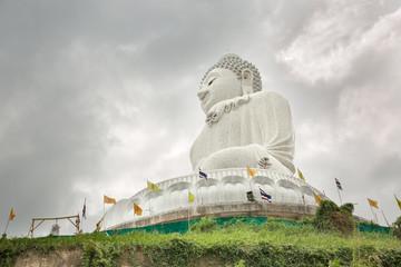 Big Buddha monument on island of Phuket in Thailand