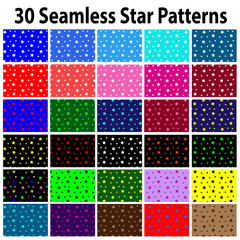 30 Star  Seamless Star Patterns