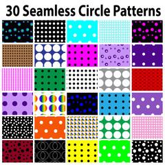 30 Star Seamless Circle Patterns