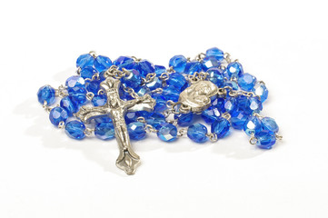 Dominican rosary isolated on the white background