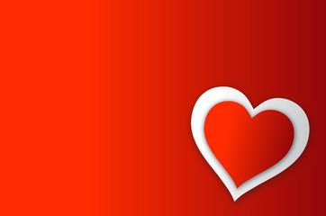 Valentine Heart Wording Space
