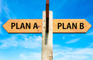 Plan A and Plan B, Right choice conceptual image