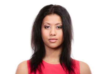 Girl mixed race portrait