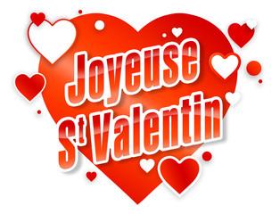 Joyeuse St Valentin - white & red - SW