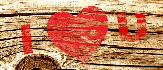 I Love U Wood