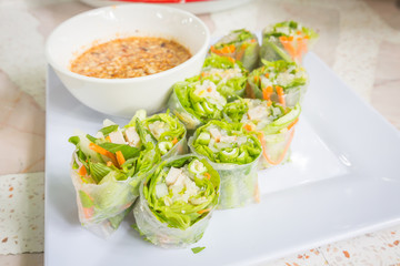 Thai fresh Spring Roll