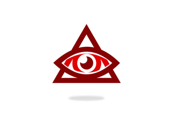 eye illumination symbol vector
