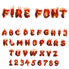 English  burning alphabet