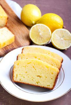 Lemon yogurt loaf cake