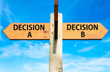 Decision A and Decision B messages