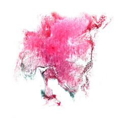 art Pink, green watercolor ink paint blob watercolour splash col