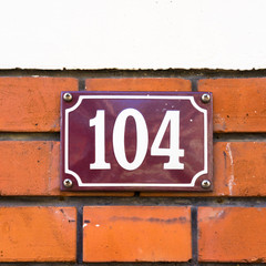 house number 104