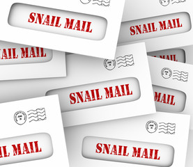 Snail Mail Envelopes Inefficient Slow Old Fashioned Message Deli