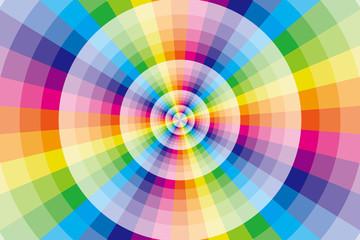 背景,素材,壁紙,虹,虹色,レインボー,七色,放射状,カラフル,放射,円,輪,丸,ワープ,空間,異次元,四次元,異空間,亜空間