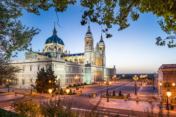 Madrid, Spain at Almudena Cathedral