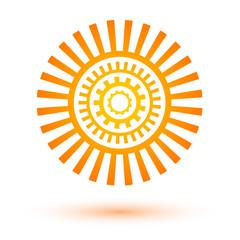 sun-icon-energy-concept-mechanics-gear-logo
