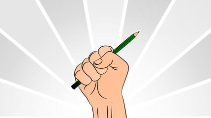 Hand Pencil - 001