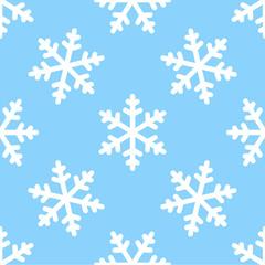 seamless snowflake pattern winter background