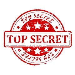 Top secret - stamp
