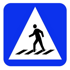 crosswalk sign board