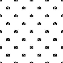 Vector seamless pattern, photo camera